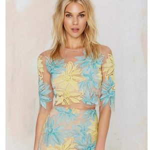 For Love and Lemons Wild Flower Crop Top